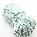 U Pick 10yds 5mm Decorative Twisted Satin Polyester Twine Cord Rope String Thread Shiny Cord Choker Thread (16: lt Mint) (Color: 16: lt mint, Tamaño: 5mm)