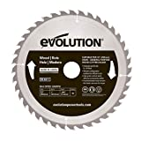 Evolution Power Tools Wood Carbide-Tipped Blade, 255 mm (Tamaño: 255 mm)