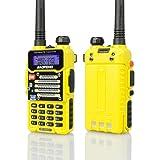 Baofeng Yellow BF-F9 V2+ 8Watt Tri-Power (4/6/8w) (USA Warranty) Dual-Band 136-174/400-520 MHz FM Ham Two-way Radio Transceiver (Color: Yellow, Tamaño: BF-F9 V2+ Tri-Power)