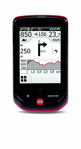 Falk 1674770000 GPS Noir, Rouge