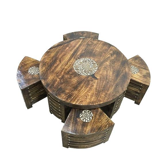 Stylla Londra lounge cucina sgabello, tavolino da caffè con quattro set. antico tavolino. Tavolini salotto. Scatola per tavolo Rustico Round
