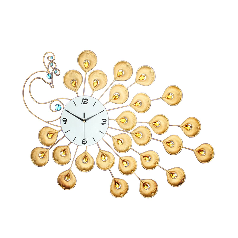 Peacock Iron Art Metal Wall Clock