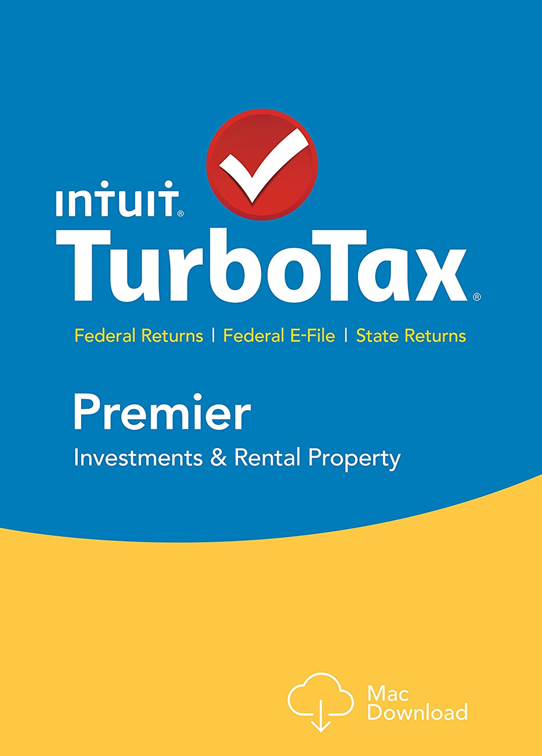 TurboTax Premier 2015 Federal + State Taxes + Fed Efile Tax Preparation Software - Mac Download