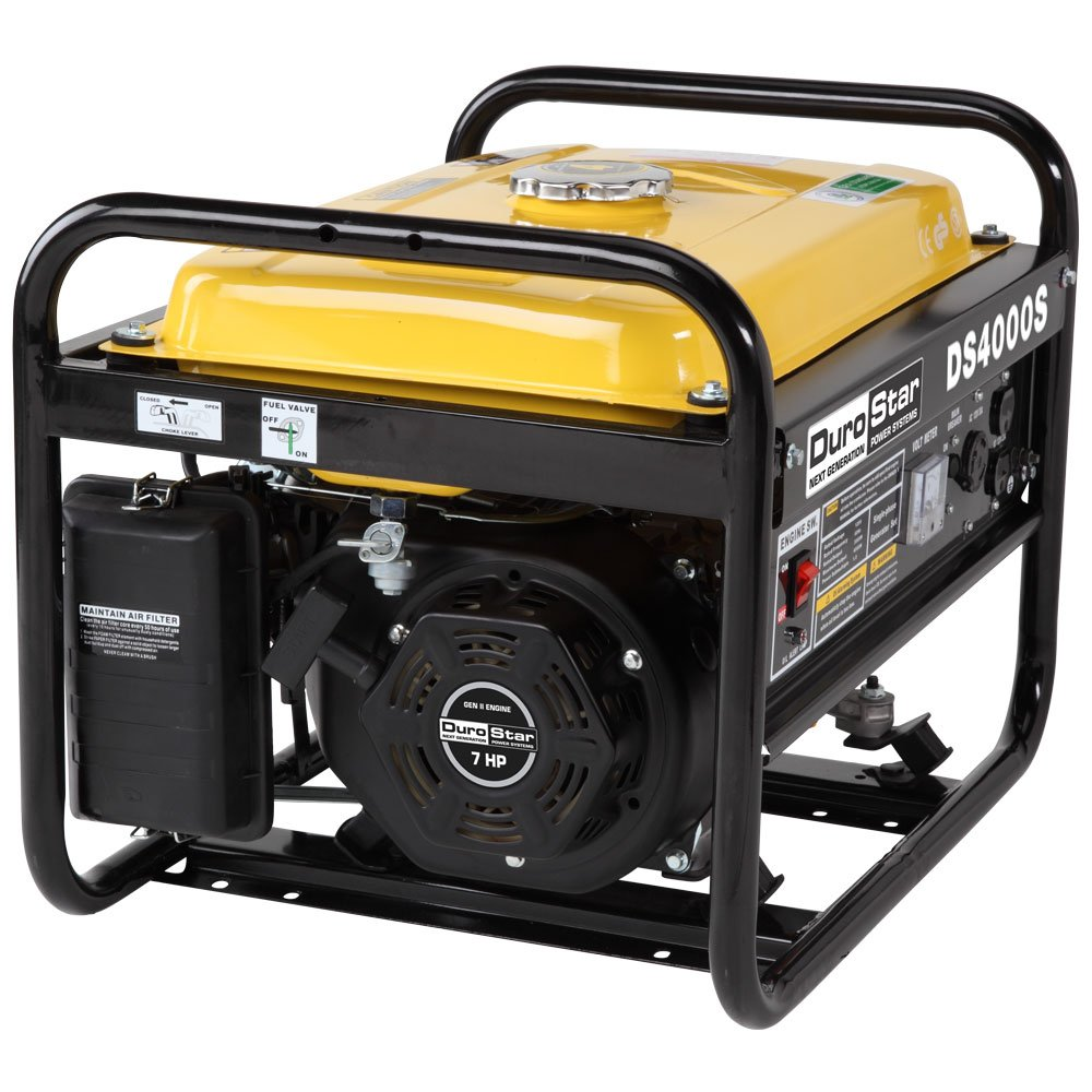 DuroStar DS4000S, 3300 Running Watts/4000 Starting Watts, Gas Powered Portable Generator