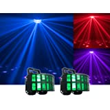 (2) American DJ Agressor HEX LED Classic ADJ Effect Lights - Now With HEX LED Technology! (Two 12-Watt 6-In-1 Red, Green, Blue, Cyan, Amber, and White
