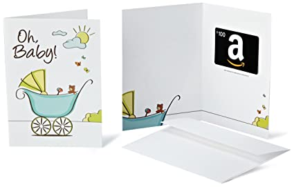 Amazon.com: Amazon.com $100 Gift Card in a Greeting Card (Oh, Baby! Card Design): Gift Cards