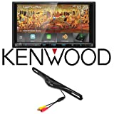 Kenwood DDX9905S eXcelon Double-DIN with Apple CarPlay Waze YouTube Android CAM-600 License Plate Bolt-On Rear View Camera w/Built-in I.R. Camera
