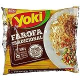 Yoki - Seasoned Cassava Flour - 17.6 Oz - Farofa De Mandioca Pronta Temperada - 500g (Tamaño: 500g)