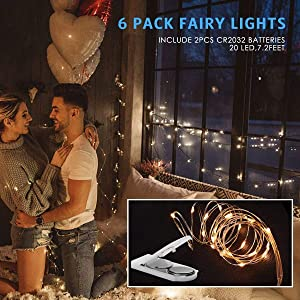 MOAOO Starry String Lights Fairy Lights Fairy String Lights 20 Micro LEDs Waterproof Copper Wire Lights Battery Operated for Home Holiday Party Weddin