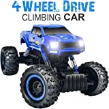 Double E 1:12 RC Rock Crawler 4WD Dual Motors Rechargeable Remote Control Truck Off Road RC Car (Color: Rc Car_blue)