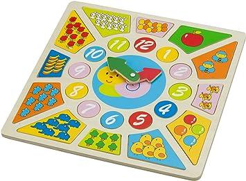 New Classic Toys - 18250 - Jouet de Premier Age - Pendule Puzzle
