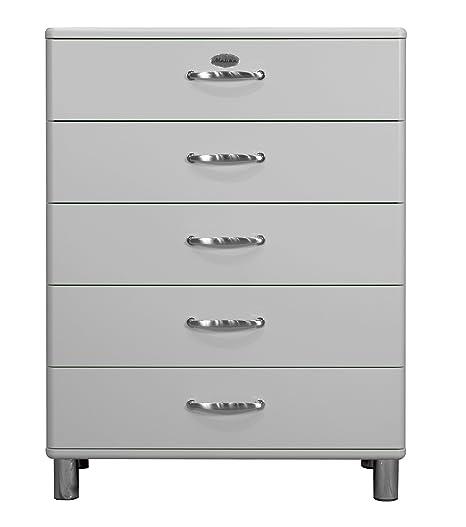Tenzo 5295-007 Malibu - Designer Kommode, MDF lackiert, 111 x 86 x 41 cm, alu