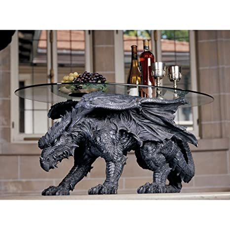 """18"""" Nasty Dragon Furniture Glass-topped Center Coffee Table"""