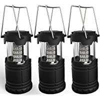 3-Pack Portable LED Camping Lanterns