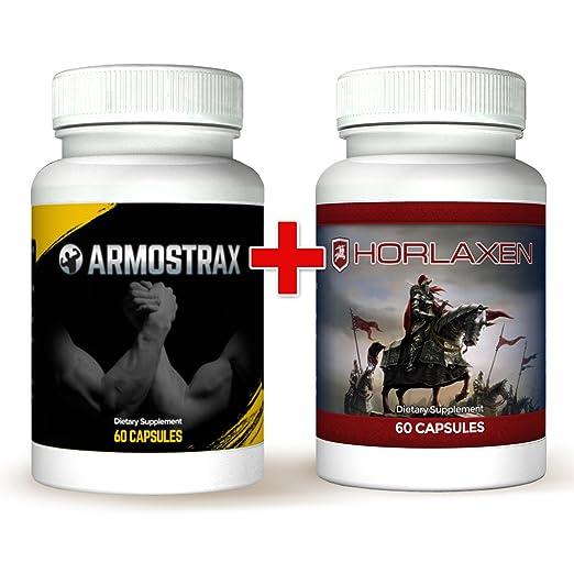 Armostrax & Horlaxen Kombi-Paket: Scheller, effizienter Muskelaufbau plus extremer Testosteronschub fur mehr Kraft, Ausdauer und Leistungsvermögen