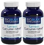Turmeric Curcumin 95% Curcuminoids Anti-Inflammatory Potent Anti-Oxidant Support Big Bulk Supplements Turmeric Curcumin 2 Bottles 360 Capsules