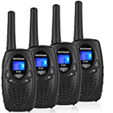 WisHouse Tech Kids Toy Walkie Talkies for Adults Men Women with Lanyard as Stocking Gifts / 2-3 Mile Range Childrens Walky Talky Phone Sets for Year Old Boys Girls as Camping Gear (M880 Black 2 Pairs) (Color: 2 Pairs M880 Black)
