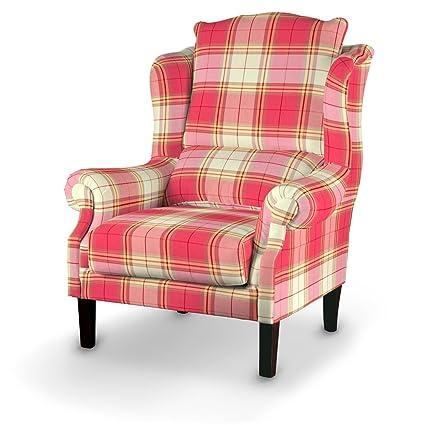 Dekoria Sessel 63 x 115 cm beige-rosa