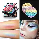 FantasyDay Pro 6 Colors 3D Baked Rainbow Highlighter Eyeshadow Makeup Palette Cosmetic Blusher Shimmer Powder Contouring Kit Unicorn Blush #2