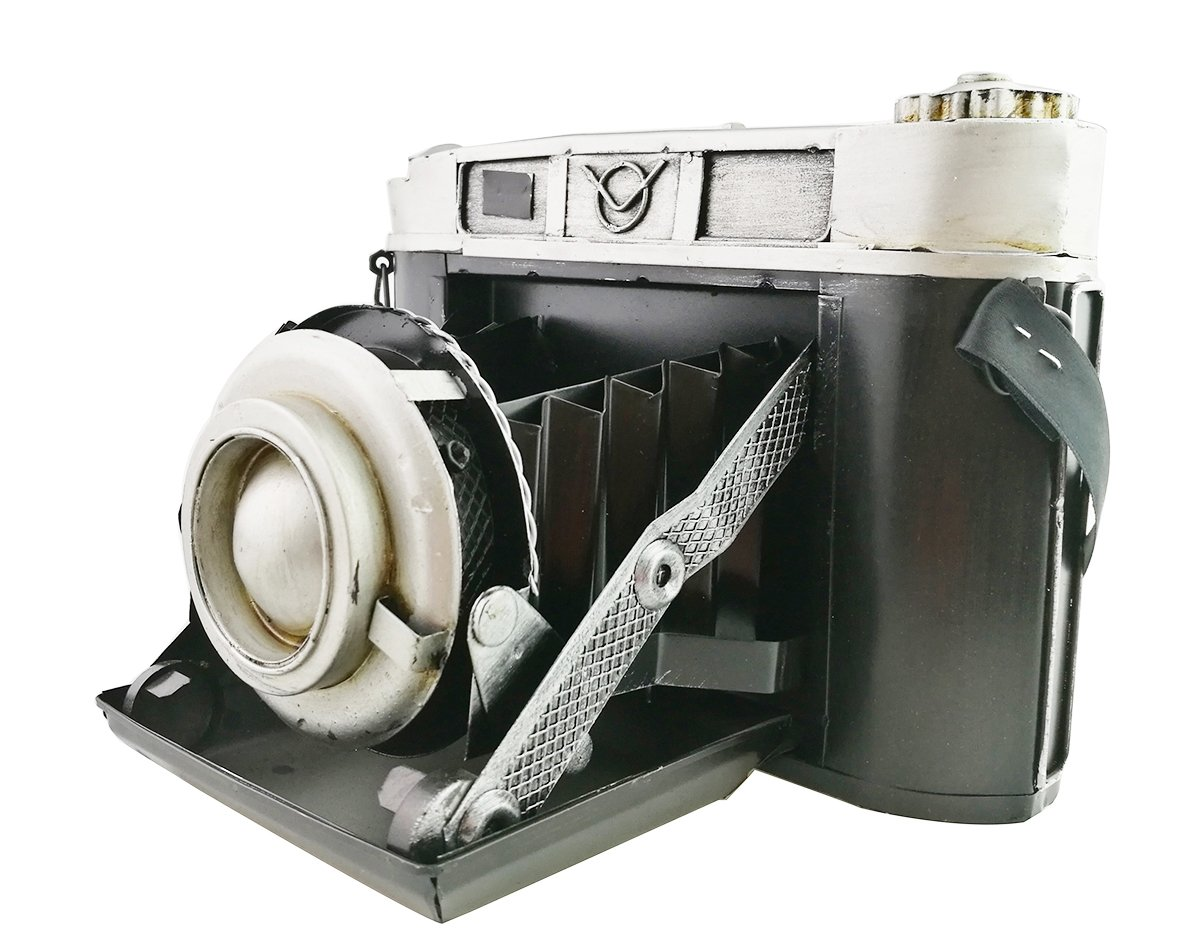 Retro Vintage Classic Iron Sheet Camera Props Movie Photography Model Home Display Cafe Workplace Decoration 0
