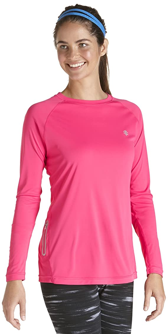 Coolibar UPF 50 Women's Long Sleeve Sport Tee Sun Protection