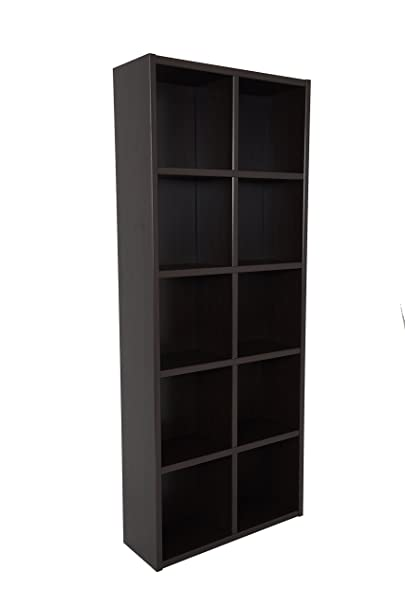 Boraam Techny Collection Calder Hollow Core Bookcase, Espresso