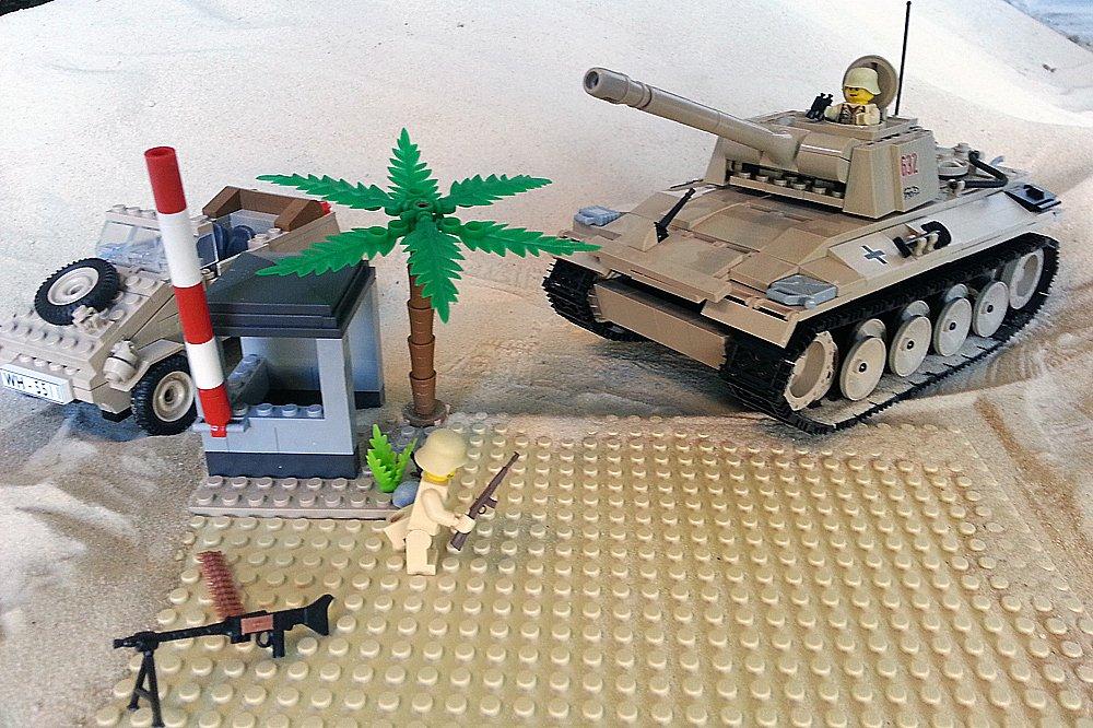 Modbrix 2447 – ✠ Bausteine Panzer V Panther, inkl. custom Afrika Korps Wehrmacht Soldaten aus original Lego© Teilen ✠ online kaufen