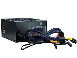 RAIDMAX RX-535AP-R 80 Plus Bronze Authentication Semi Plug-in Type 4 Pin RGB Header Compatible Thunder RGB 535 W Rx, 535Ap, R (Tamaño: 535W)
