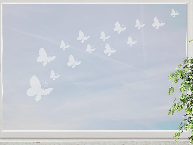 wandfabrik – Fenstersticker 14 Schmetterlinge 3-10cm Motiv (S7S2) – frosty – 798 – (Xt) jetzt bestellen