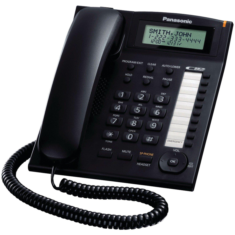 Telefonos-fijos Panasonic, Panasonic KX TS880B integrado con cable de teléfono en Veo y Compro