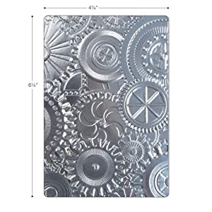 Sizzix (SIZC7) 662715 3-D Texture Fades Embossing Folder, Gray (Color: Gray)