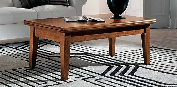 Tavolino rettangolare rialzabile e trasformabile