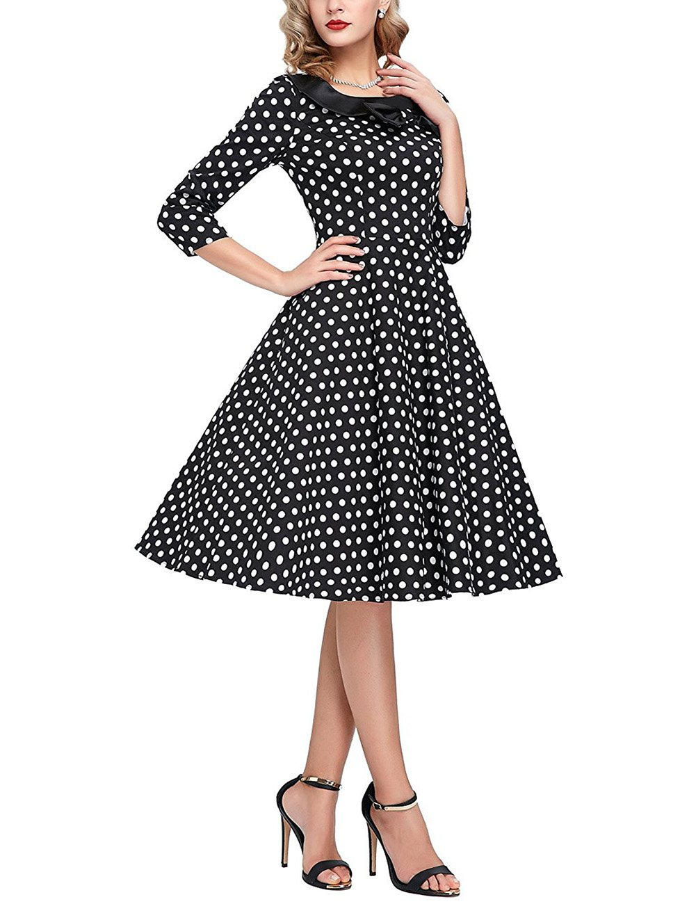 GlorySunshine Women's Vintage Swing Polka Dot Dress 4