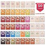 Mica Powder 50 Color - Epoxy Resin Powder Pigment Natural Pearl Color Dye - Perfect for Soap Making, Bath Bomb, Paint, Slime (5g/ 0.18oz Each) (Color: 50 color)