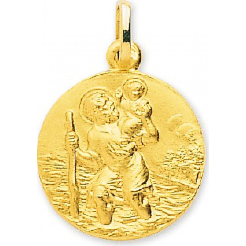 Gold Damen Anhänger Motiv Heiliger Christophorus mit Jesus im leau rund Murat Paris jetzt kaufen
