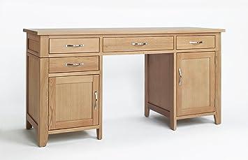 Nottingham oak Home Office Furniture Double Pedestal Desk