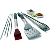 GrillPro 7-Piece Stainless Tool Set with Ergo Grips - Open Box