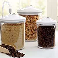 3 Piece FoodSaver T02-0052-01P Round Canister Set (White)