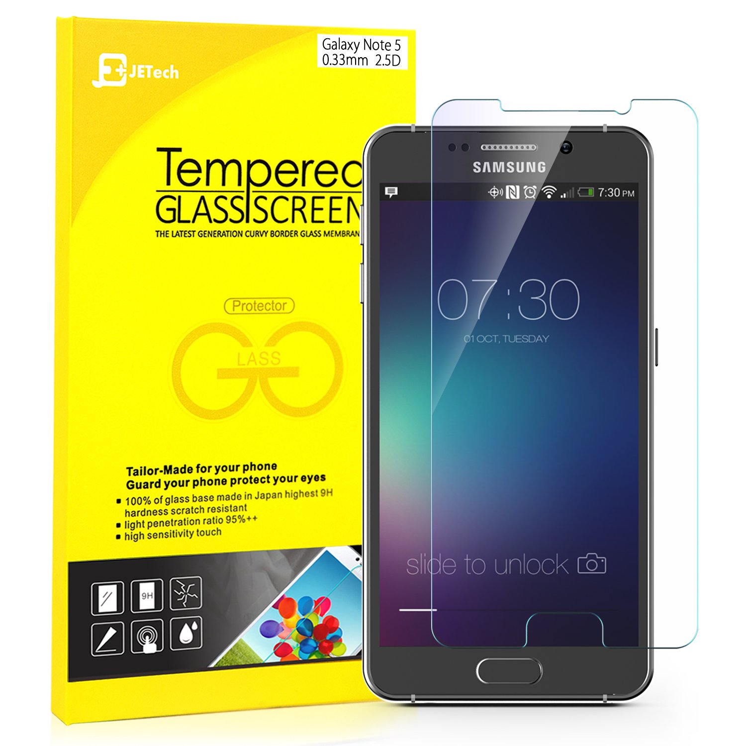 Tempered Glass Note 5