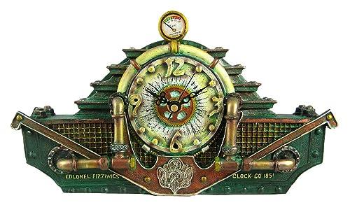 Cool Steampunk Desk Clock Mantle Steam Punk Sci-Fi