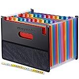 24 Pocket Expanding File Folder with Cloth Edge Wrap, Letter Size Organizer Expandable Accordion A4 Files Bag (Color: Multicolour, Tamaño: 24-Pocket & A4 Size)