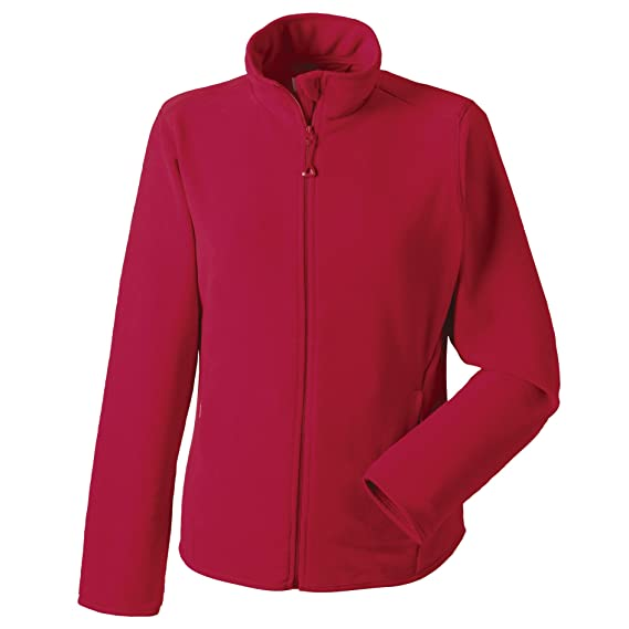 Russell Europe Womens Ladies Full Zip Fitted Anti-Pill Microfleece Top