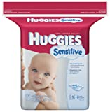 Huggies Sensitive Baby Wipes, Refill, 184-Count Pack (Pack of 3)