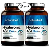Maximum Strength Hyaluronic Acid 100mg,180 Capsules, Powerfully Supports Skin Hydration & Joints Lubrication. Non-GMO and Made in USA. (2 Pack)