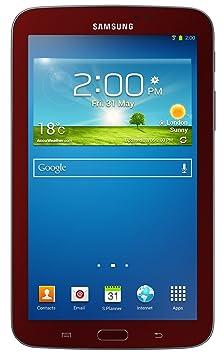 Samsung Galaxy Tab 3 SM-T210R 8GB, Wi-Fi, 7in - Garnet Red with Samsung Case
