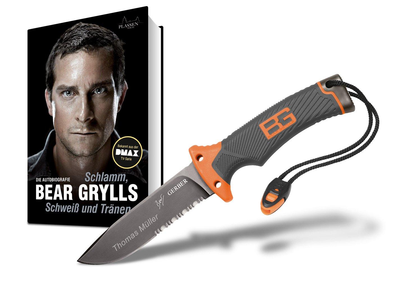 Bear Grylls Ultimate Survival MesserSet mit Bear Grylls& Autobiografie und Wunschgravur  BaumarktÜberprüfung und Beschreibung