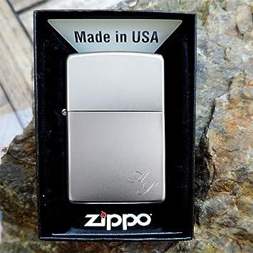 zippo satiniert originales satiniertes zippo benzinfeuerzeug mit kostenlose gravur auf der. Black Bedroom Furniture Sets. Home Design Ideas
