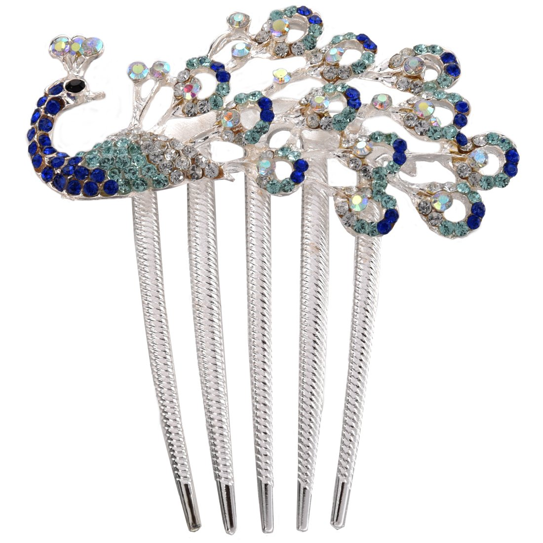 SODIAL(R) Lovely Vintage Jewelry Crystal Peacock Hair Clips for hair clip Beauty Tools 0