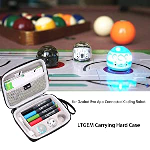 Ltgem Carrying Case For Ozobot Evo App-connected Coding Robot Skin Playfield 4 Color Code Marker Fits Usb Charging Cable