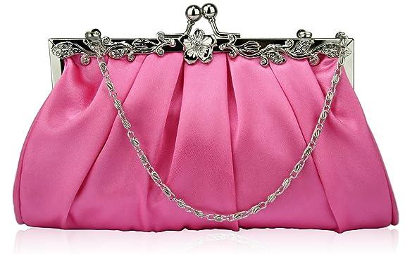 KCMODE Pink Vintage Style Soft Evening Bag